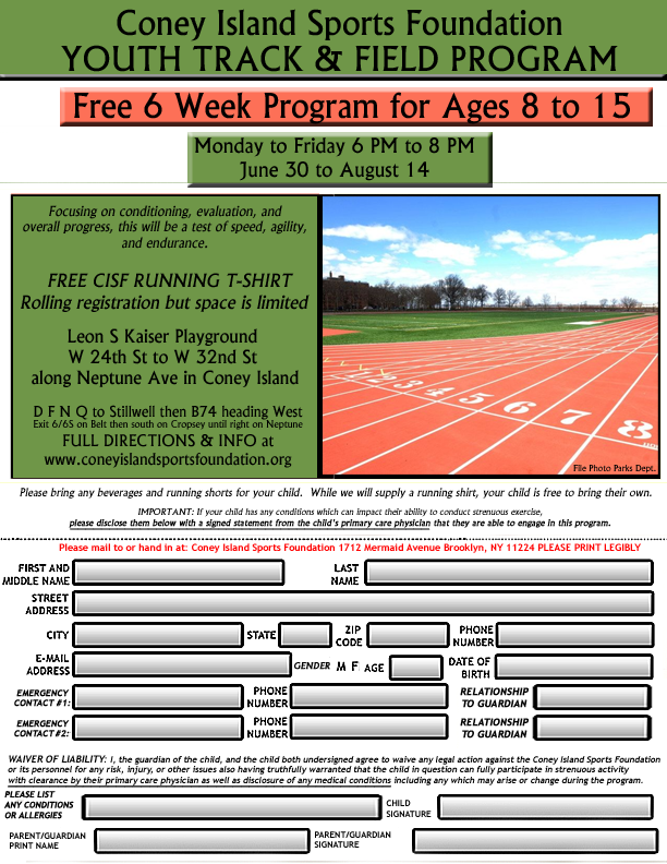Youth Program Flyer